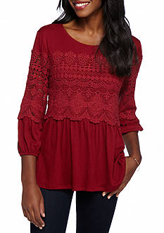 New Directions Crochet Trim Top