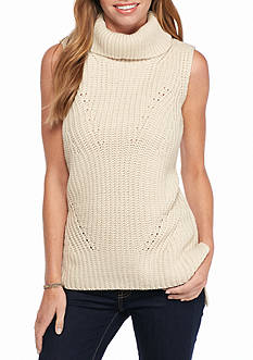 New Directions Sleeveless Turtleneck Sweater