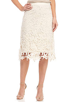 New Directions® Starfish Lace Midi Skirt