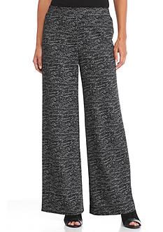 New Directions Wide Leg Jacquard Pants