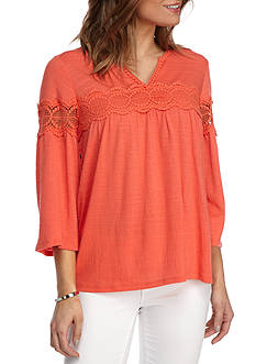 New Directions® Crochet Lace Top