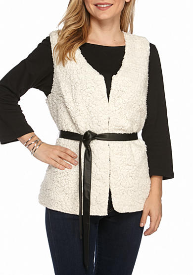 New Directions® Belted Teddy Bear Vest