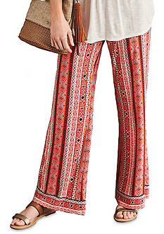 New Directions Petite Size Vertical Mixed Print Soft Pant
