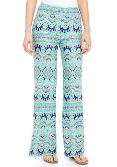 New Directions® Petite Medallion Stripe Printed Palazzo Pant