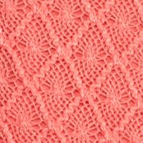 Petite Tops: Knit Tops: Craft Coral New Directions Petite Allover Crochet Top