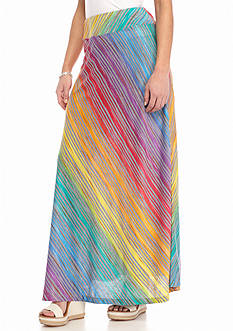 New Directions® Petite Knit Multi-Striped Maxi Skirt
