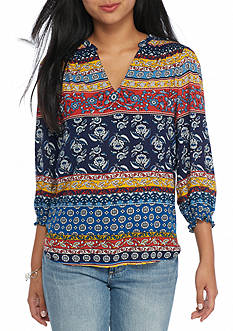 New Directions® Petite Size Smock Shoulder Sleeve Top