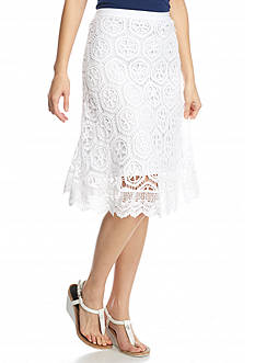 New Directions® Petite Lace Skirt