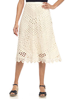 New Directions Petite Size Crochet Skirt