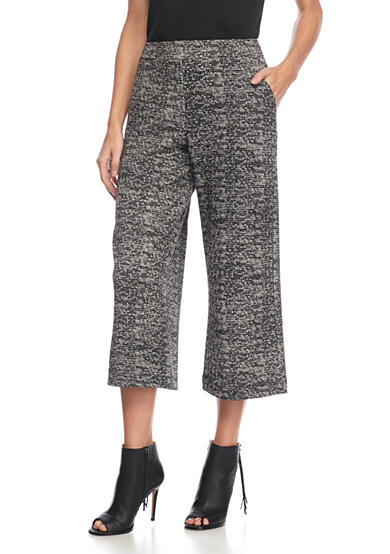 New Directions® Petite Pull On Jacquard Print Crop Pants