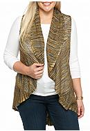 New Directions® Plus Size Space Dye Vest Shawl
