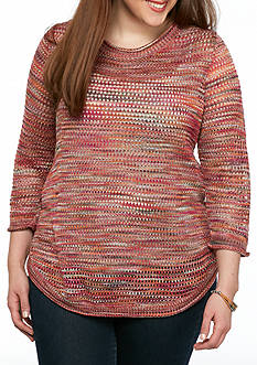 New Directions Plus Size Scoop Neck Sweater