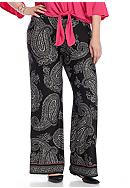 New Directions® Plus Size Printed Soft Pants