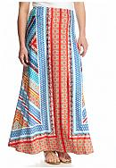 New Directions® Plus Size Placed Print Maxi