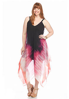 New Directions® Plus Size Chiffon Ombre Maxi Dress