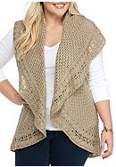 New Directions® Plus Size Collar Shawl Vest