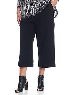 John Paul Richard Plus Cropped Solid Knit Pants