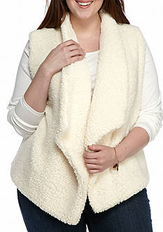 New Directions® Plus Size Teddy Bear Vest