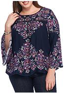 New Directions® Plus Size Bell Sleeve
