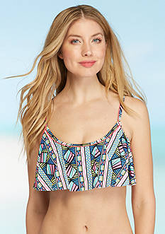 New Directions Palm Geo Flutter Bra