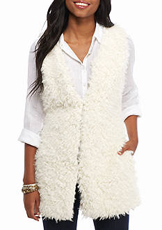 Me Jane Long Faux Fur Vest