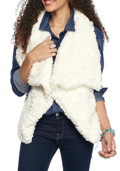 Me Jane® Curly Vest with Cascade Body