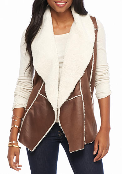 Me Jane® Shearling Shine Vest