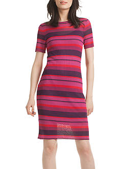 TRINA Trina Turk Stripe Ribbed Dress