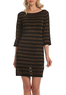 TRINA Trina Turk Sparkle Stripe Dress