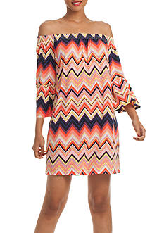 TRINA Trina Turk Swing Off-the-Shoulder Dress