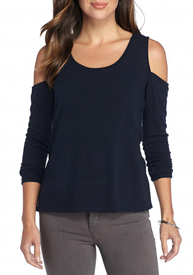 matty m Cold Shoulder Knit Top