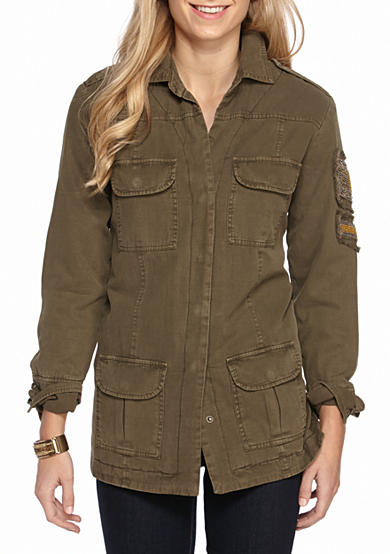 Willow and Clay Military Bead Trim Jacket