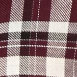 Trendy Womens Clothing: Plaids: Wine Willow and Clay Fringe Plaid Shirt