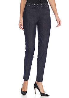 New Directions Lace Detail Ankle Slim Leg Jeans