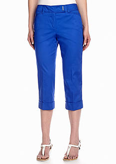 New Directions® Sateen Cuffed Crop Pant