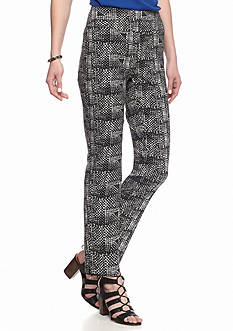 New Directions Plaid Ankle Pants