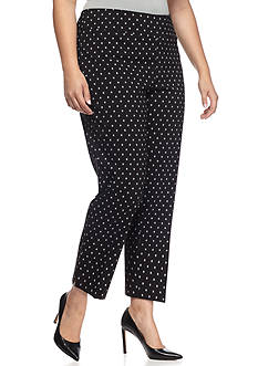 New Directions® Plus Size Printed Millennium Ankle Pants