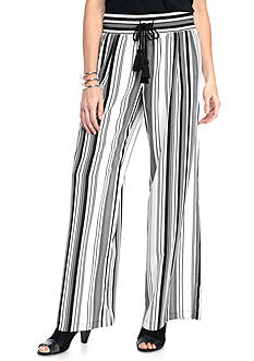 New Directions Printed Stripe Pant