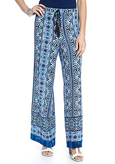 New Directions Printed Stripe Palazzo Pant