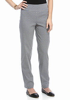 New Directions Tile Print Ankle Pant