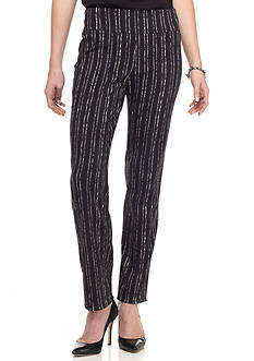 New Directions Millennium Pull-On Chalk Stripe Pant