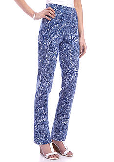 New Directions Paisley Printed Millennium Pull-On Pants