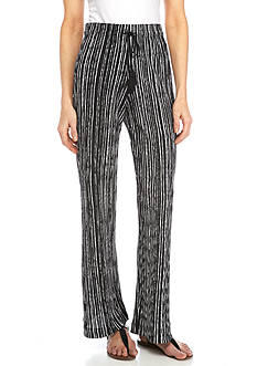 New Directions Printed Bodre Stripe Pull-On Pant