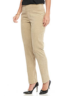 New Directions Corduroy Pull-on Slim Leg Pant