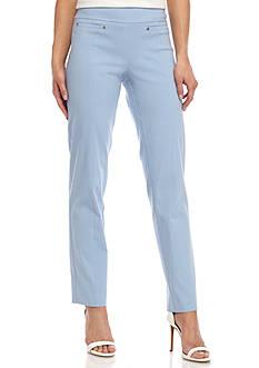 New Directions Solid Millennium Slim Leg Pant