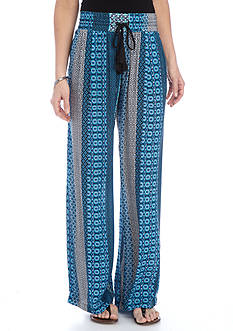 New Directions Printed Crepon Pull-On Soft Pant