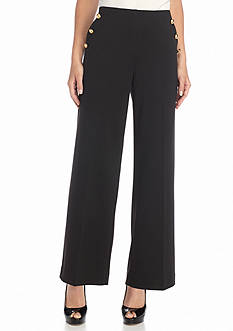 New Directions Ponte Wide Leg Pants