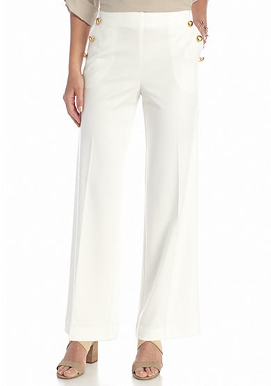 New Directions® Ponte Wide Leg Pants