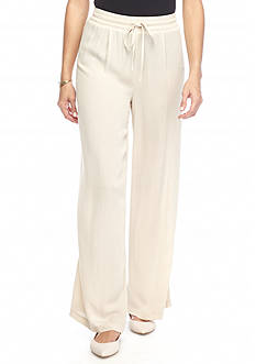 New Directions Solid Tie Waist Pant