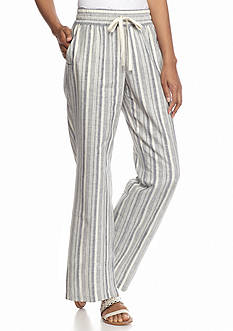 New Directions® Petite Striped Linen Pants